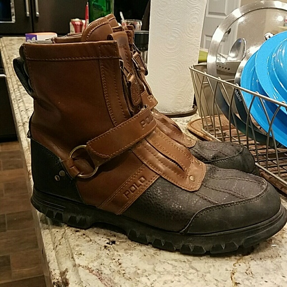 Mens Zipstrap Polo Boots